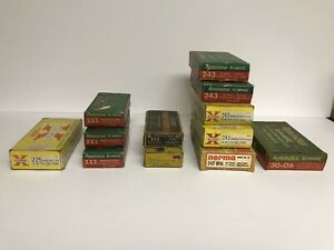 Vintage Remington Winchester  Peters and Norma Ammo Boxes-Lot