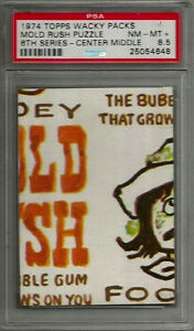 1974 Topps Wacky Packages Mold Rush Puzzle Center Middle 6th Ser. PSA 8.5 NM-MT+