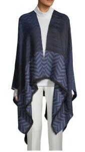 NWT Authentic Missoni Women's Multicolor Shevron Knitted Wool Blend Cape 1 Size