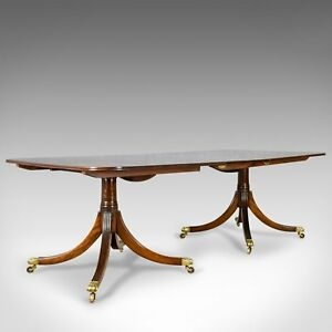 Six to Eight Seat Extending Dining Table in Regency Taste Mahogany C20th