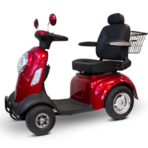 Four wheels adult electric mobility scooter  in BLUE