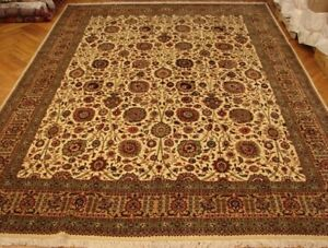Durable Perfect Fine Quality Rug 11' x 15' Persian Ivory Handmade Rug