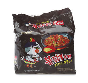 SAMYANG Fire Noodle Challenge Original Buldak Noodle 140g*5ea Korean Spicy Food