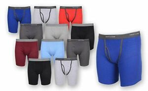 Fruit of the Loom Men#x27;s Boxer Briefs 12 PACK Underwear Cotton Fly COLORS VARY
