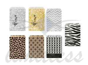 100 PAPER GIFT BAGS  & JEWELRY BAGS - 7 COLORS AND 4 SIZES