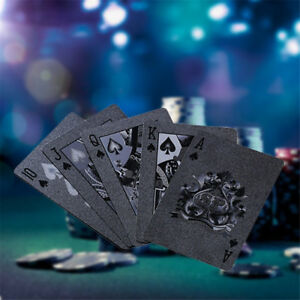 Creative Black Plastic PET Waterproof Poker Magic Table Board Game Playing Cards