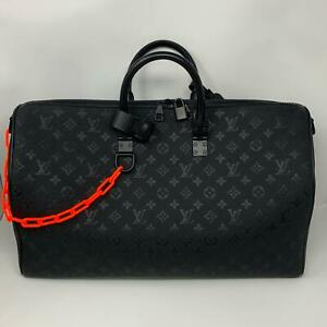 Louis Vuitton x Virgil Abloh Keepall BLACK Taurillion embossed Monogram SS19 bag