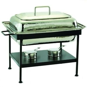 Kitchen Chafing Dish 23 in. x 13 in. Oven Safe Stainless Steel Polished Nickel