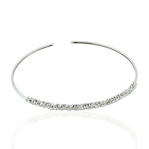 14k White Gold 3.48ct Baguette Diamond Choker Necklace Women's Jewelry
