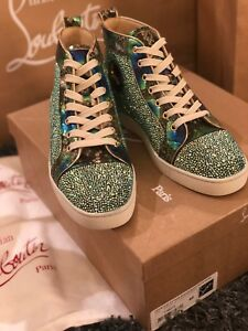 Auth Christian Louboutin Sneaker BNWB Collector Swarovski Python SUPER LIMITED!!