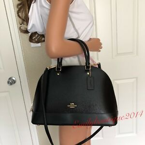 NWT COACH PATENT LEATHER BLACK SATCHEL TOTE HANDBAG SHOULDER BAG CROSSBODY PURSE