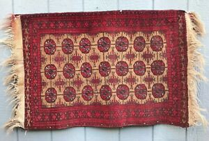 Antique Vintage Hand Knotted Oriental Persian Turkish Rug 41