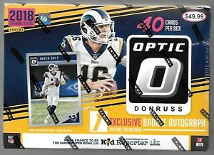 (1)  2018 Donruss OPTIC Sealed Football MEGA Box Boxes BRONZE RCs + BRONZE AUTO