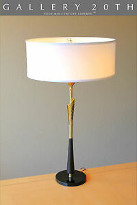 POSH!! MID CENTURY MODERN REMBRANDT TABLE LAMP! ATOMIC VTG 50'S BRASS EAMES 60'S