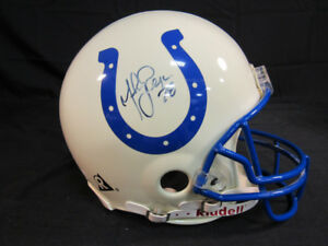 Marshall Faulk Signed Colts Full-Size Authentic On-Field Helmet