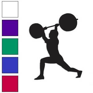 Weight Lifting Exercise Decal Sticker Choose Color Large Size #lg739