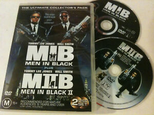 'MIB MEN IN BLACK 1 & 2' 19972002 Region 4 : 2 Disc Collector's DVD: Will Smith