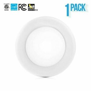 PARMIDA 4 inch 10W LED Recessed Disk Light Dimmable Flush Mount Ceiling J Box