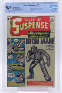 Tales of Suspense #39 CBCS 9.4 Origin and 1st Appearance of Iron Man Blue Label