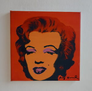 Rare Unique painting PoP ART Marilyn Monroe signed Andy Warhol w COA docs.