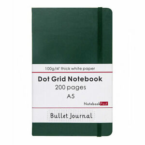 Classic Notebook Myrtle Green 0.5cm Dot Grid Paper Bullet Journal, A5 200 Pages
