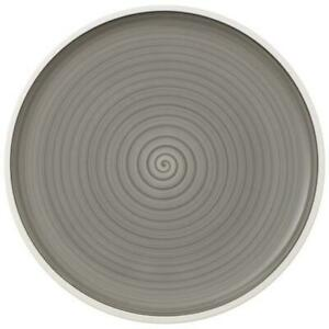 Villeroy & Boch Manufacture gris PizzaBuffet Plate 12.5 in - Set of 8