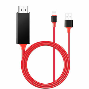 HDMI Mirroring Cable Phone to TV HDTV Adapter For iPhone Xs Max6s78 PlusiPad