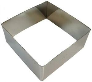 Paderno World Cuisine Stainless Steel 8-58-Inch Square Pastry Ring