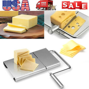 Cheese Butter Slicer Cutter Board Stainless Steel 5 Wires Cutter Baking Tool US