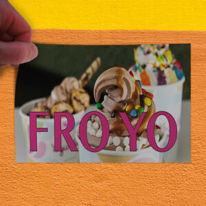 Decal Sticker Fro Yo #2 Retail Froyo Outdoor Store Sign White