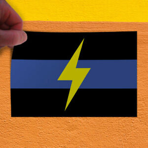 Decal Sticker Black Blue Lightening Business Business Outdoor Store Sign Black