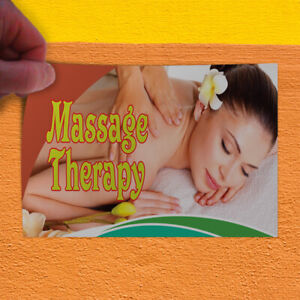 Decal Sticker Massage Therapy #2 Business Rub Outdoor Store Sign Yellow