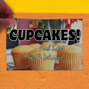 Decal Sticker Cupcakes! Fresh Baked Moist & Delicious! Business Store Sign