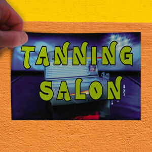 Decal Sticker Tanning Salon #2 Business Tanning Salon Outdoor Store Sign Blue