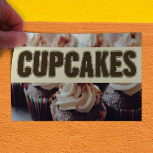 Decal Sticker Cupcakes #1 Restaurant & Food Cupcakes Outdoor Store Sign Black