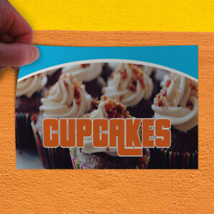 Decal Sticker Cup Cakes #1 Food & Beverage sweetcup cakes Outdoor Store Sign