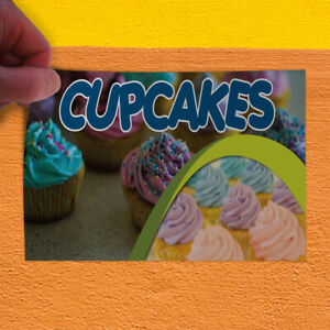Decal Sticker Cupcakes #1 Style B Food & Beverage sweet cupcakes Store Sign