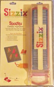 Sizzix Sizzlits CLASSIC ALPHABET~Numbers~Punctuation Die Set w Case~NEW