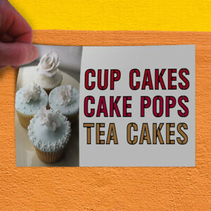 Decal Sticker Cup Cakes Cake Pops Tea Cakes Food & Beverage Cup Cake Store Sign