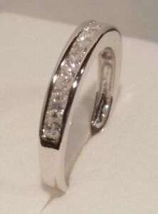 1.20 Ct Princess cut Diamond Wedding Band Ring White Gold ovr