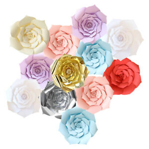 20/30/40cm DIY Large Paper Flowers Backdrop Flower Wall Wedding Party Decoration