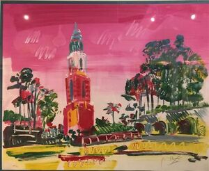 Peter Max Balboa Park Lithograph on Arches paper limited edition
