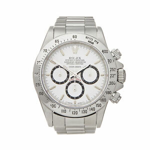 ROLEX DAYTONA FLOATING COSMOGRAPH STAINLESS STEEL WATCH 16520 W5859