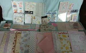 Lot of Scrapbooking - BABY GIRL HUGE LOT OF ITEMS NEW
