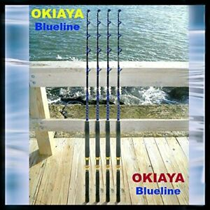 Okiaya Rods -New 30-50lb Solid Saltwater Roller Fishing Rod PENN SHIMANO(4PACK)