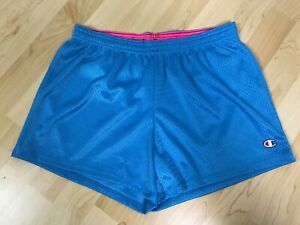 Champion Ladies Womans Running Gym Shorts Activewear Vintage Style Size M