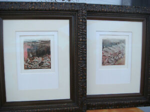 HENRY MOORE SIGNED AND NUMBERED LITHOGRAPHS quot;SHELTER SKETCH BOOKquot; LOT OF 2 $299.00