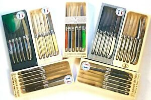 Laguiole Jean Dubost Steak Knives Set of 6-Piece Stainless Steel Thiers France