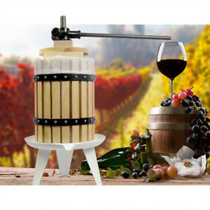 Fruit Wine Press 4.75 Gallon Solid Wood Basket Cider Press Apple Berries Press