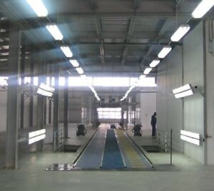 DUAL BELT CONVEYOR REXNORD  AVW  for TUNNEL CARWASH 120 feet with Blue Grating